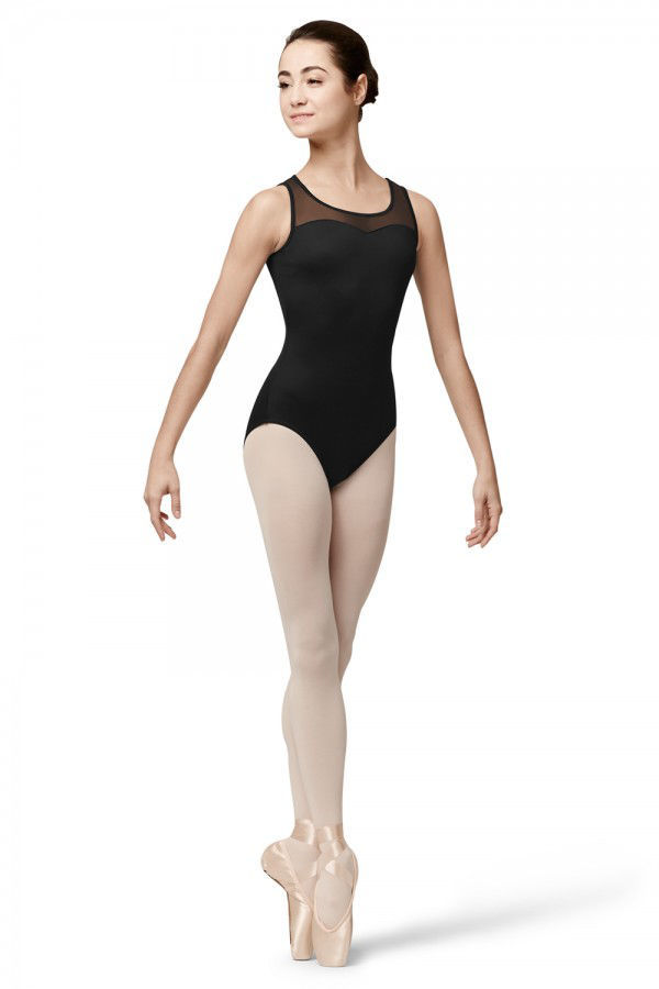 Picture of Bloch Pintuck Box Pleat Back Tank Leotard