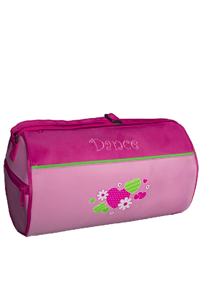 Picture of SASSI Designs pink & green Duffel dance bag HNF-02