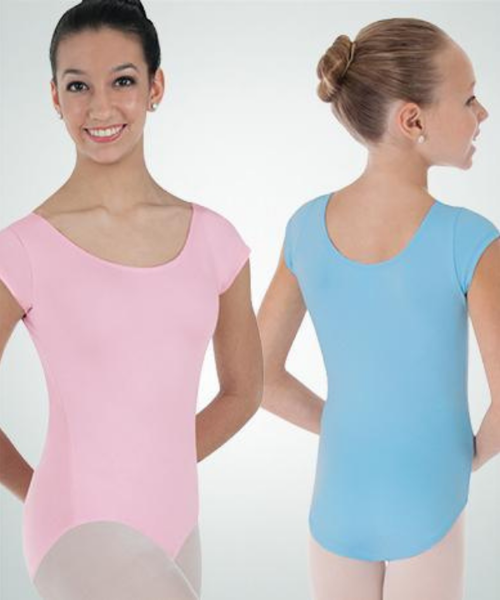 Picture of Body Wrappers Short Sleeve Leotard Custom
